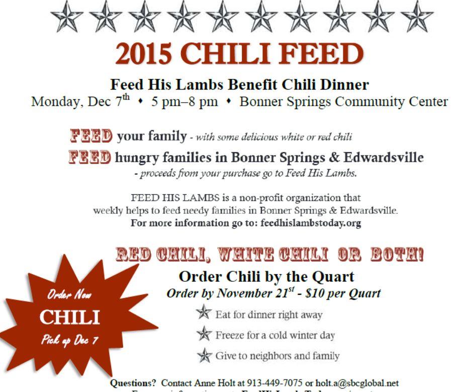 Soroptimist Chili Feed Fundraiser  |Chili Feed Fundraiser